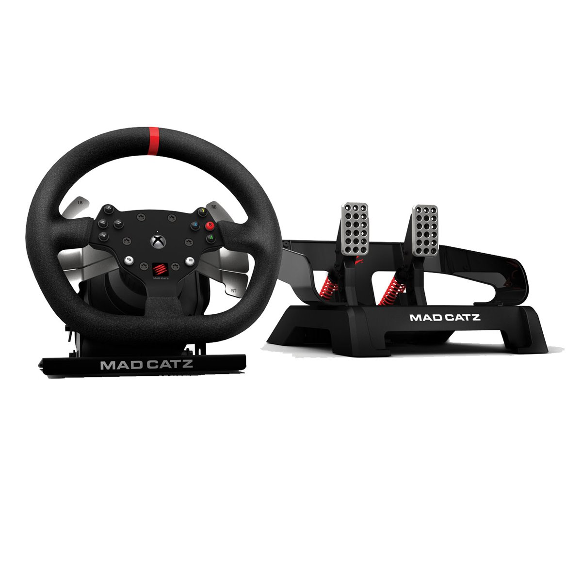 mad catz pro racing force feedback wheel lenkrad und. Black Bedroom Furniture Sets. Home Design Ideas